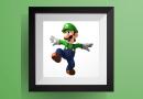 チビルイージの色々なポーズ【マリオワールド】のアイロンビーズ図案 Small Size Luigi
