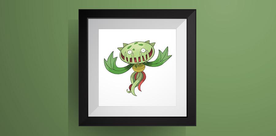 【ポケモン】マスキッパのアイロンビーズ図案・ドット絵!carnivine